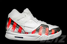 Nike AIR TECH CHALLENGE II FRENCH OPEN Size 8.5 WHITE LASER CRIMSON 621358-116