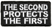 THE SECOND PROTECTS THE FIRST PATCH 2ND 1ST AMENDMENT CONSTITUTION DEFEND
