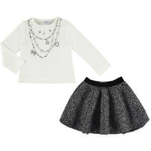 Mayoral girls long sleeve T. Shirt and matching skirt suit - sale (4948)