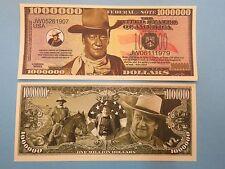 JOHN WAYNE Movie Cowboy ~ $1,000,000 One Million Dollar Bill: United States USA