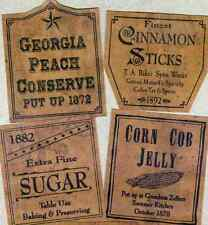 Primitive Jelly Cupboard Farmhouse Pantry  26 Labels