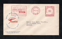 -  QANTAS AUSTRALIA  20 OCTOBER 1954 - COVER WITH SPECIAL STAMP (z)