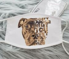 Face Mask Pitbull Don't Judge washable, adjustable. 2 filters included