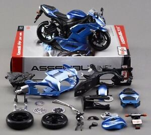 Maisto 1:12 Kawasaki Ninja ZX 6R Assemble DIY Motorcycle Model Toy 39155 IN BOX