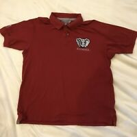 Alabama Crimson Tide Mens XL Roll Tide Elephant Crimson Short Sleeve Polo Shirt