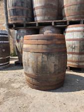 More details for large hogshead 75cm wide scotch whiskey oak wooden barrel garden bourbon
