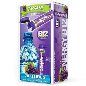 Zipfizz Healthy Energy Drink Mix Hydration with B12 and Multi Vitamins Grape