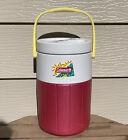 Rare VTG Coleman 1 Gal Jug Red w/Yellow Handle Cool Essence Flip Spout 90s 5596