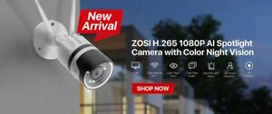 ZOSI 4 Channel 1080p IP Poe Security Camera System - White