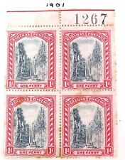 .BAHAMAS c1901 1d PLATE BLOCK MH. PRICED TO SELL !!