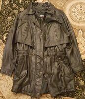 Wilson's Women's Leather Jacket  Black Zip in Lining Adirondack size Medium EUC