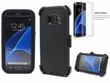 For Samsung Galaxy S7 Edge NEW Defender Case Tempered Glass & Clip Fit Otterbox