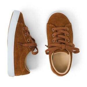 New Janie and Jack Toddler Caramel Suede Sneakers   Size 4