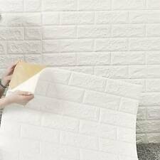 70×77cm 3D Tile Brick Wall Stickers Self-adhesive Wallpaper Foam Panel 10 Pcs
