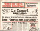 CANARD ENCHAINÉ Birthday Newspaper JOURNAL NAISSANCE 15 AVRIL APRIL 2009