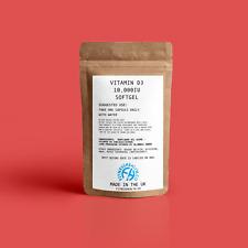 Vitamin D3 10000IU Super High Strength 120 Soft Gel Capsules Immune Health GMP