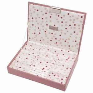 ❀ڿڰۣ❀ STACKERS Classic Size DUSKY MAUVE PINK Two Layer JEWELLERY BOX ❀ڿڰۣ❀ Rare