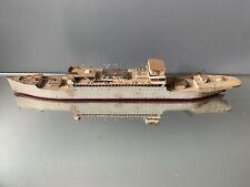 muséable ancienne maquette de bateau en métal antiquité maritime marine déco 3