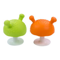 2pcs Baby Molar Teeth Soother Toy Infant Silicone Mushroom Soothing Teether