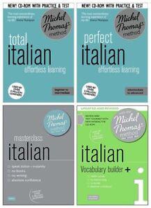 Michel Thomas Total Italian, Perfect Italian, Masterclass Italian & Vocab 20 CDs