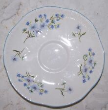 Shelley Blue Rock Fine Bone China Saucer Plate 13591 Dainty Shape C.1938-66