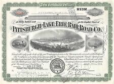 Pittsburgh Lake Erie Raíl Road CO Certificado 1943