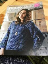 Ladies Mesh Jumper / Sweater Knitting Pattern - Easy Knit