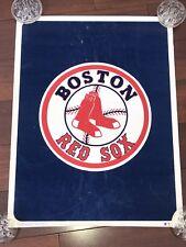VINTAGE BOSTON RED SOX POSTER FELT 1981 STARLINE BASEBALL MLB RARE