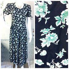 VTG Karen Stevens Blue Floral Fit & Flare Tea Retro Summer Dress Size 6