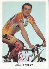 CYCLISME carte cycliste ALEXEI SIVAKOV équipe BIG MAT AUBER 93 signée