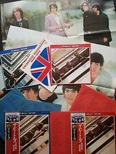 The Beatles 1962-66 1967-70 Japan vinyl 4x LP OBI 2x Posters booklet inserts