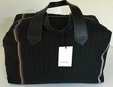 Paul Smith Weekend Holdall PS Black Maharam Bespoke Stripe Holdall