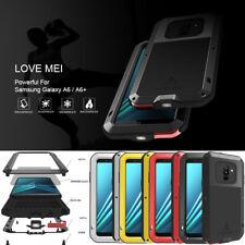 For Samsung A6 / A6 Plus 2018 LOVE MEI Gorilla Glass Aluminum Metal Case Cover