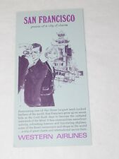 1967 SAN FRANCISCO WESTERN AIRLINES Pamphlet