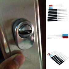 12Set Lock Pick Locksmith Handle Tool Broken Key Remove Auto Key Extractor US