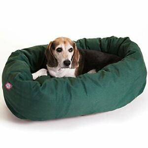 32 inch Green Bagel Dog Bed By Majestic Pet Products