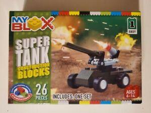 My Blox Super Tank Construction Blocks 26 Pieces - NEW SEALED