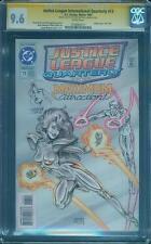 Justice League International 13 CGC SS 9.6 Linsner Original art Sketch was 9.8