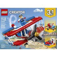 LEGO CREATOR 3 IN 1 DAREDEVIL STUNT PLANE 31076 NEW FACTORY SEALED 200 PCS