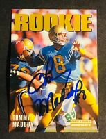 Pittsburgh Steelers TOMMY MADDOX. autograph signed auto 1992 Skybox ROOKIE RC SB