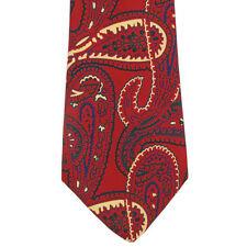 PAUL STUART BIG AND WILD RED PAISLEY! Mens Silk Neck Tie