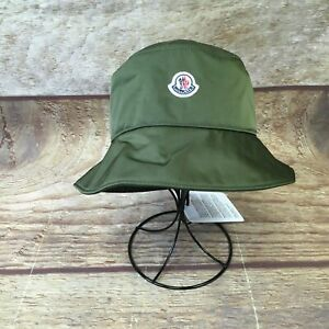 Moncler Adult Large Dark Green Berretto Bucket Hat NWT