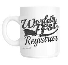 Registrar World's Best Novelty Gift Mug shan935