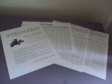 Stalingrad Board Game WWII Russia Instructions Only Replacement 1963 Avalon Hill