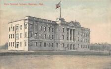 State Normal School Kearney, Nebraska Hand-Colored Vintage Postcard 1909