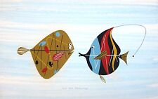 Charles/Charley Harper - Sole & Angelfish - Ford Times - RARE