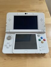 New Nintendo 3DS (not xl) Black and White Custom - new battery, charger, case