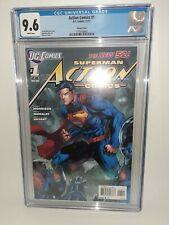 DC Superman Action Comics #1 Cgc 9.6 White Pages Jim Lee Variant 2011 FREE SHIP