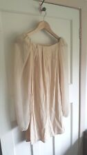 Topshop Nude Dress Long Sheer Sleeves Party Evening Cocktail Size UK 6