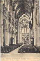 28 - cartolina - CHARTRES - La cattedrale - La nef e la Choeur